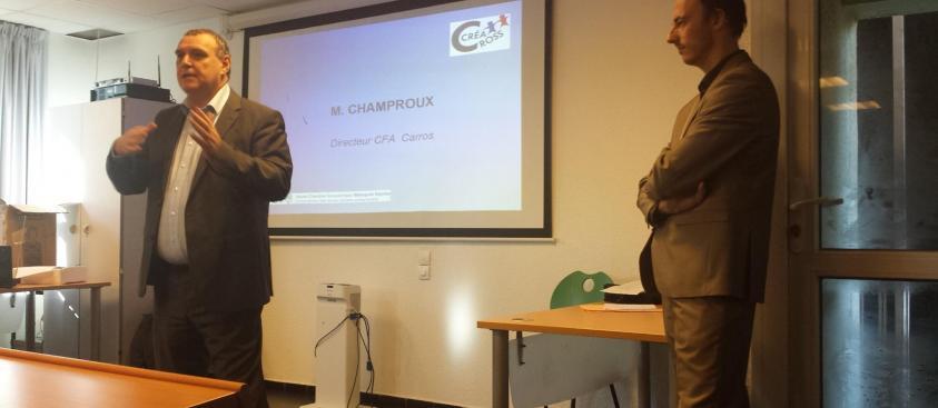 Cross créa 2014 : Mr CHAMBON Directeur du CFA