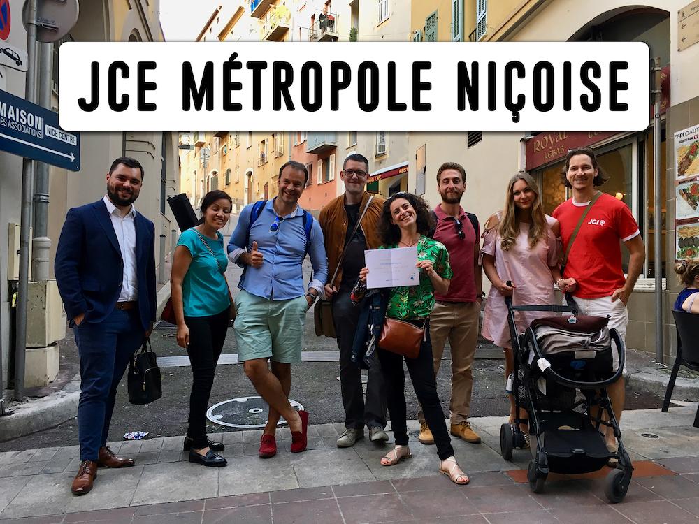 Les membres de la JCE Métropole Niçoise font du bénévolat à Nice